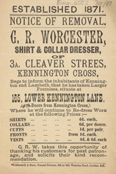 Advert For G. R. Worcester, Laundry Works
